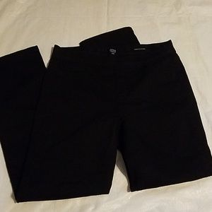 Jones New York Lexington Straight Black Pants 10